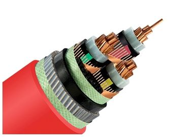 China 33kV Medium Voltage Steel Wire Armoured Electrical Cable 3 Phase Copper Wire Screen XLPE Power Cable supplier