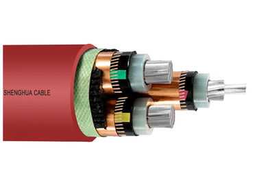 China 8.7/15kV medium voltage XLPE Insulated  Power cable copper wire screen conductor supplier