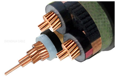 China 8.7KV 15kV XLPE Insulated Power Cable , Three Core Copper Conductor Cable supplier