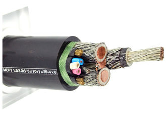 China Mobile Copper Shielding Rubber Sheathed Cable Environmental Protection supplier