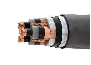 China Lightweight Armored High Voltage Cable 3 Core With Bare Earth Copper Conductor supplier