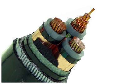 China Armoured Electrical Cable HT 3 Phase Distribution Copper Underground Power Cable supplier