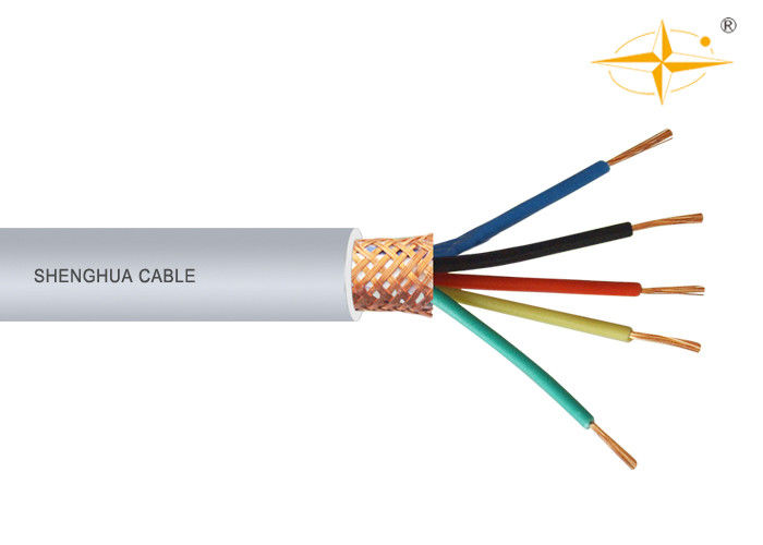 5 Conductor PVC Insulated Cables , PVC Flexible Cable Copper Wire ...