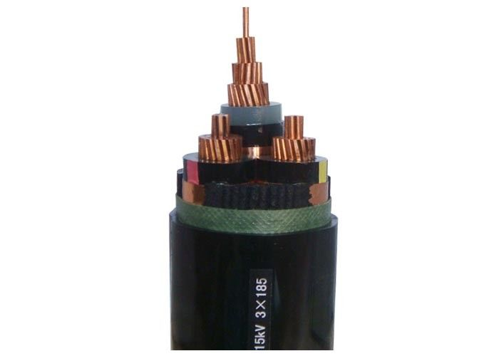 3 Core Medium Voltage Copper Tape Screen Pvc Xlpe Cable Insulated Power Cable