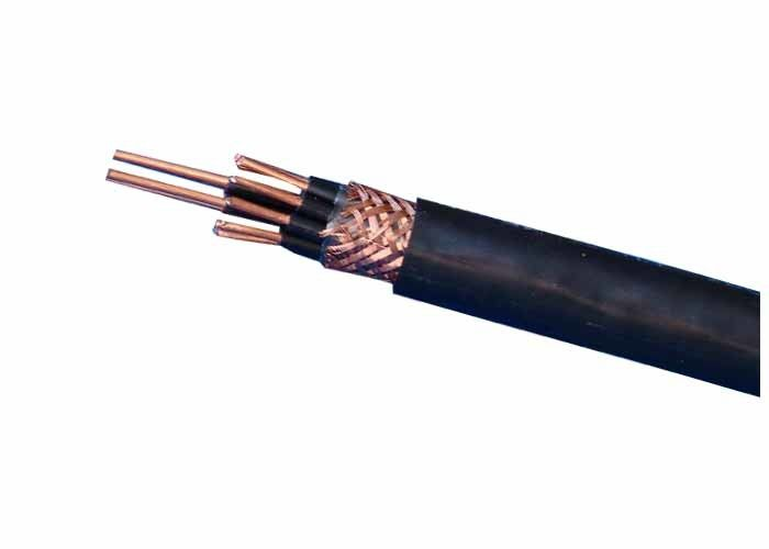 Cu / PVC control cables copper wire braiding screened flxible cable ...