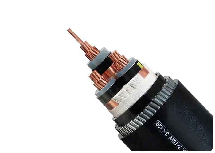 Armoured Electrical Cable Power Plant Three Phase XLPE Insulation ...