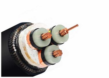 6 / 10KV 3 Core Stranded Copper Steel Wire Electrical Armoured Cable / Power Cable