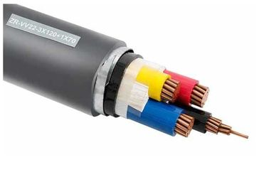 Four Cores Low Voltage PVC Insulated Cables With Double Galvanized Steel Tape Armored