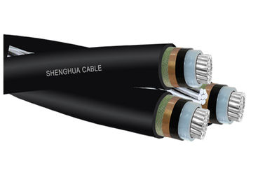 Black XLPE Insulated Aerial Bunch Cable For Overhead Distribution Lines