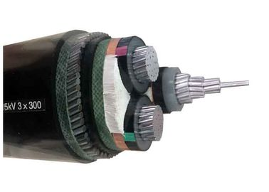 8.7/15kV 3x300SQMM Steel Wire Armoured Aluminum Cable YJLV32 AL/XLPE/SWA/PVC Power Armour Cables