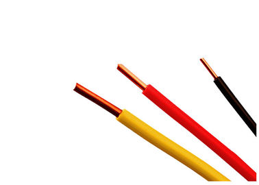 Color Customized Electrical Cable Wire Single Core PVC Insulated Cable 450 / 750 V