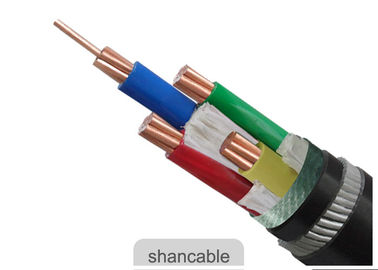 China ISO Approved PVC Insulated Cables Four Core Aluminum Conductor For Power Distribution Lines factory