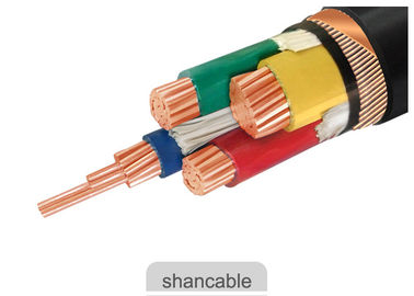 China Customized PVC Insulated Cables 600 / 1000V Rated Voltage With Three Half Core factory