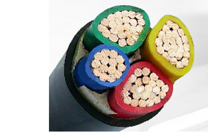 1000V Copper Conductor PVC Insulated Cables Customized With Three Half Core