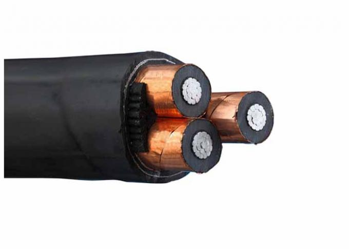 3 Phase Flame Retardant Low Smoke Cables Aluminum Conductor XLPE Insulated Zero Halogen MV Cable