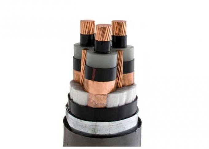 Lightweight Armored High Voltage Cable 3 Core With Bare Earth Copper Conductor