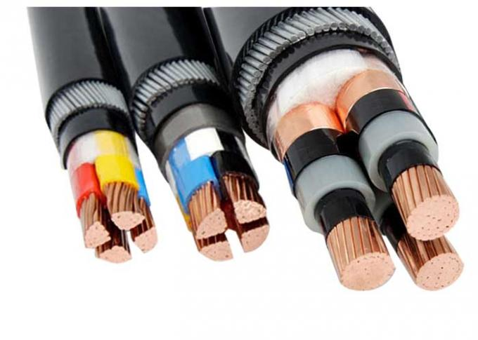 Low Medium Voltage Steel Wire Armoured Power Cable 1 5