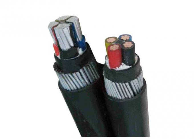 Copper / Aluminum Conductor SWA Armoured Electrical Cable XLPE PVC Insulation