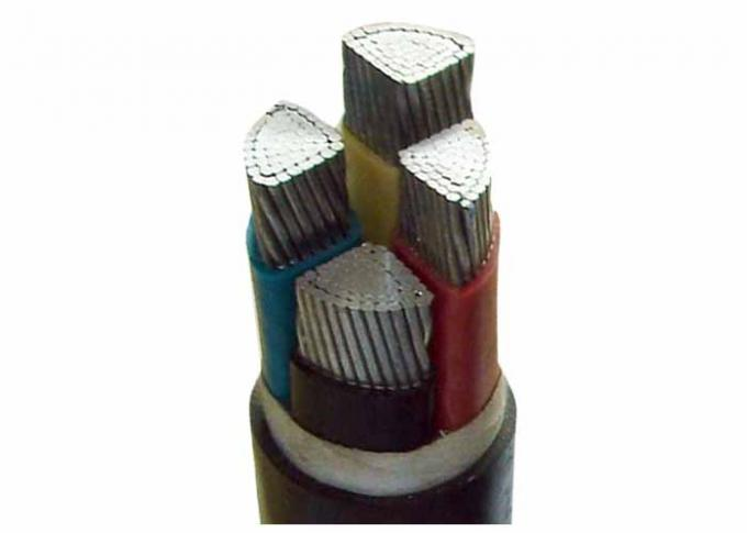 U-1000V 4 Core Aluminum Power Cable OEM CU / XLPE / PVC For Wiring Electrical