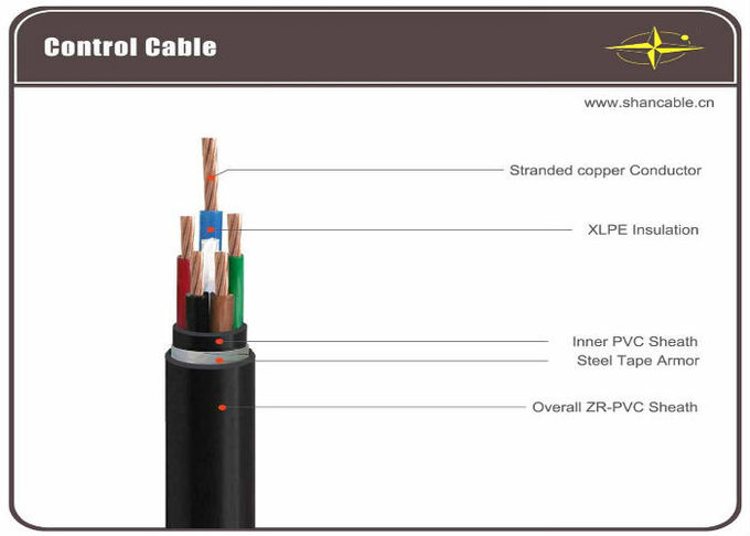 XLPE insulated armoured control cable Multi-core flame retardant