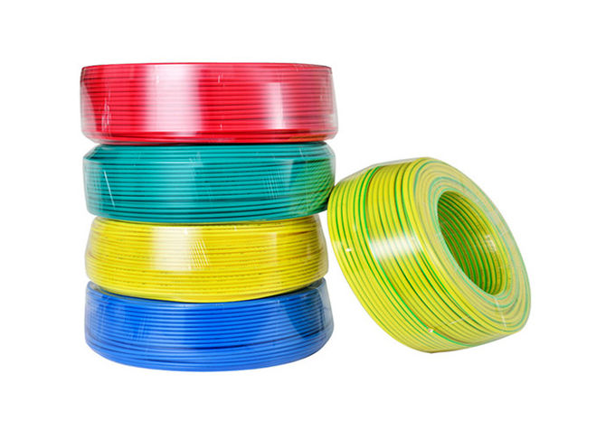 Plain Circular Solid Copper Conductor Electrical Cable Wire Pvc Insulation